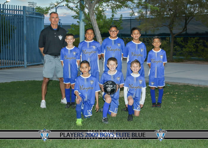 Soccer Players 2009 Boys Elite Blue